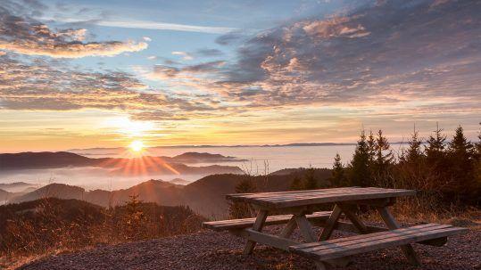 Sonnenuntergang Schwarzwald