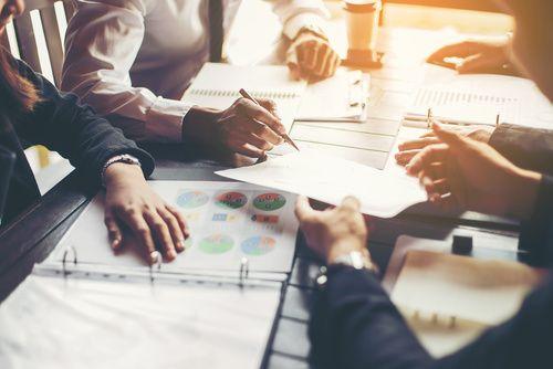 Geschäftsleute, Design Konzept, geschäftliche Planung