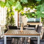 Beer garden at Flair Hotel Deutsches Haus