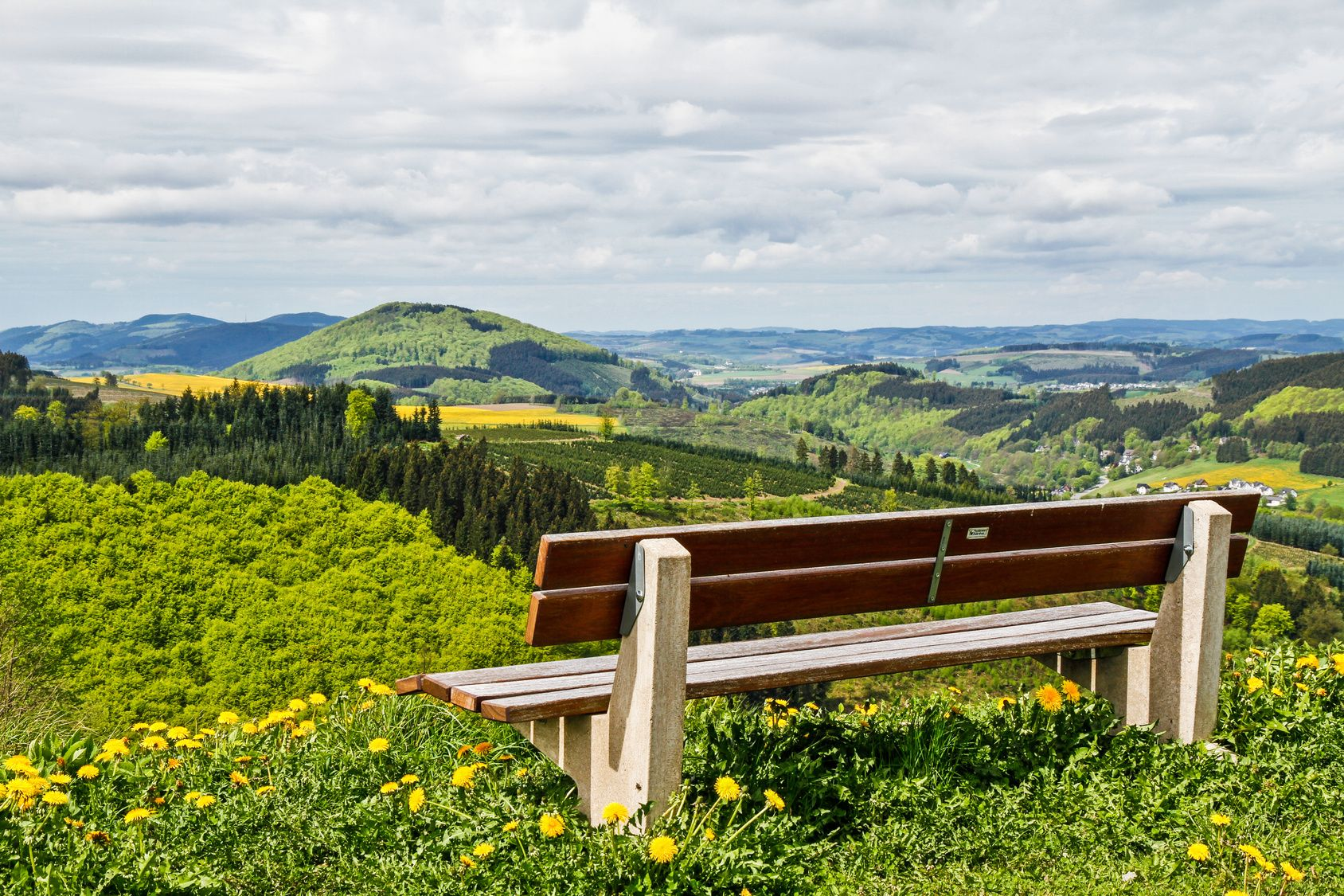 Magnificent view over the Lenne valley in the Sauerland region