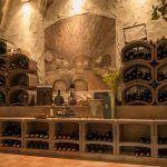 Hotel Mellestollen wine cellar