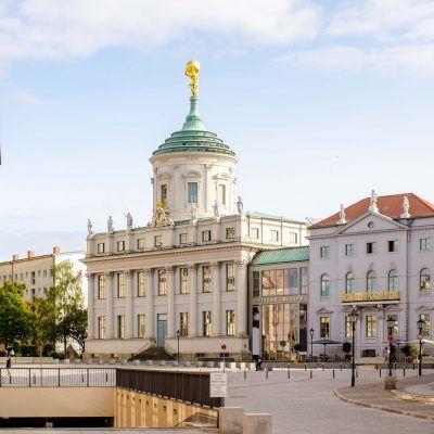 Potsdam am alten Markt mit dem Potsdamer Museum