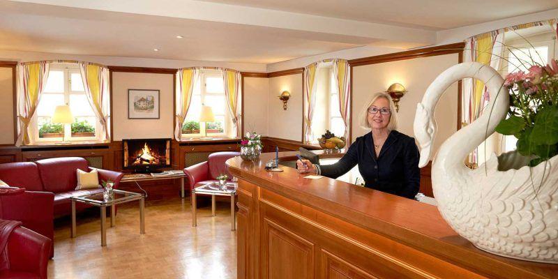 Flair Hotel Schwanen Rezeption