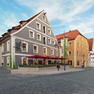 Außenansicht des Flair Hotels Brauereigasthof Sperberbräu