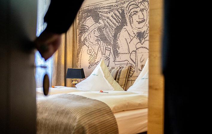 Blick in ein Zimmer im Flair Hotel Brauereigasthof Sperberbräu