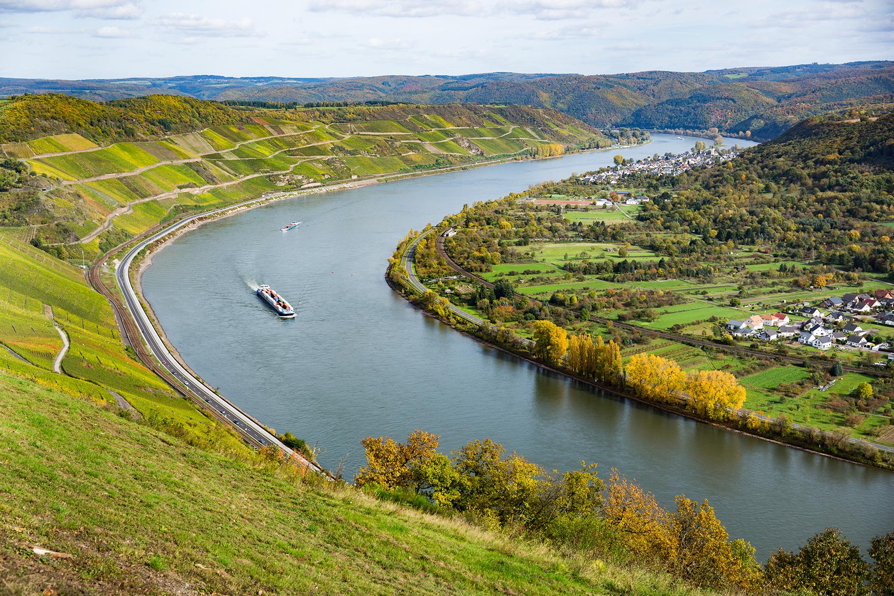 Der Bopparder Hamm ist eine bekannte Weinlage am Mittelrhein