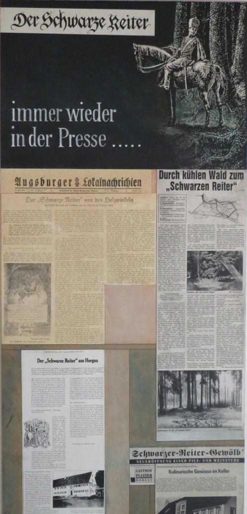 Presseartikel über die Legende vom Schwarzen Reiter