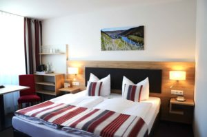 Doppelzimmer Burgblick im Flair Hotel am Rosenhügel in Cochem an der Mosel