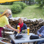 Beer garden at flair hotel talblick