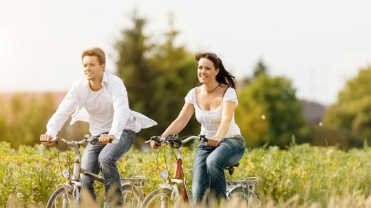 Fahrradfahrer im Ammerland