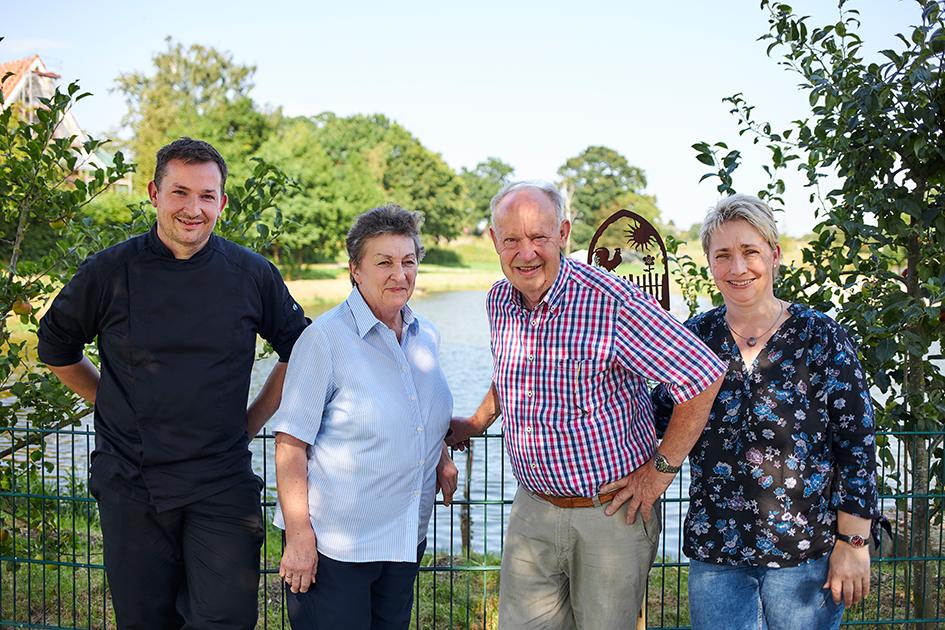 Familie Molt vom Flair Landhotel Strengliner Mühle in der Holsteinischen Schweiz