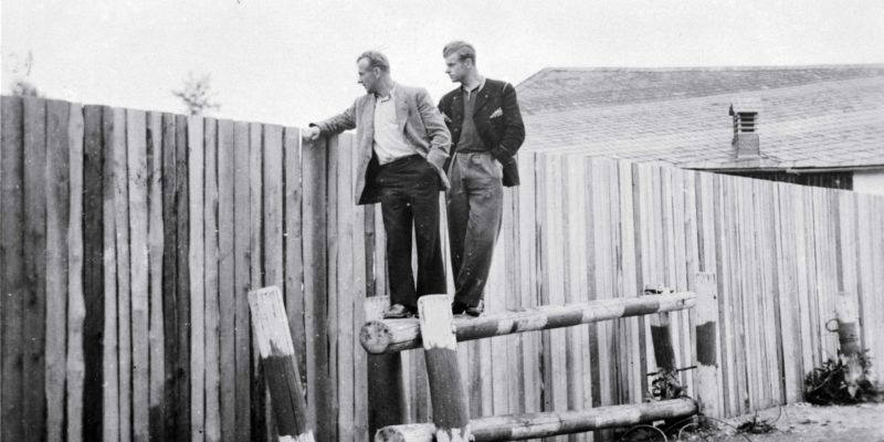 Holzbretterzaun in Mödlareuth 1952