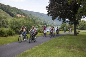 Fahrradfahrer auf dem MainRadweg bei Miltenberg