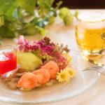 Salat im Restaurant des Flair Hotels Brauereigasthof Sperberbräu