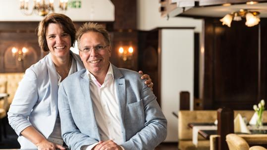 Tanja und Thomas Frank vom Flair Hotel Vier Jahreszeiten in Bad Urach auf der Schwäbischen Alb