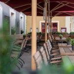 Terrasse im Flair Hotel Brauereigasthof Sperberbräu