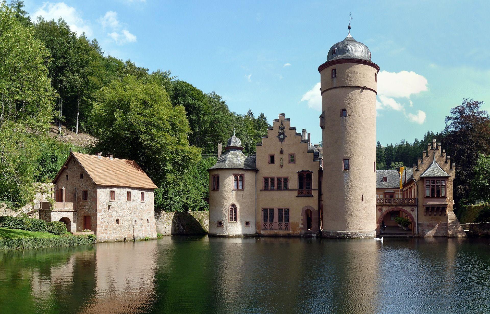 Mespelbrunn moated castle in Spessart