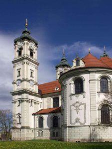 Die Benediktinerabtei Ottobeuren im Allgäu.