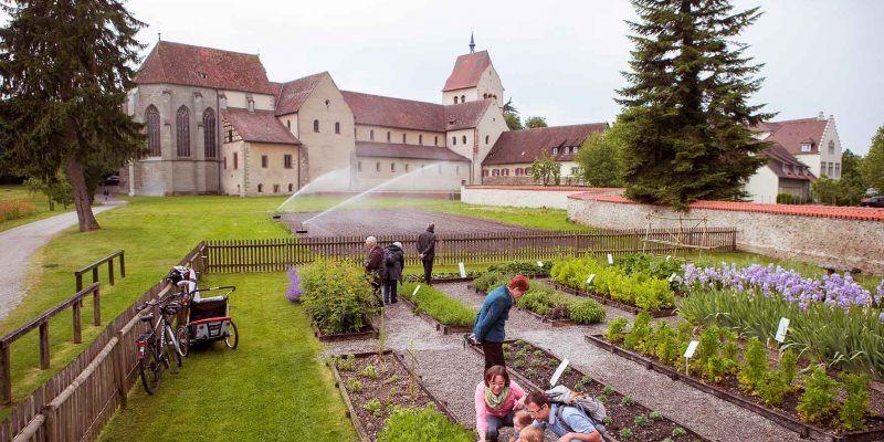 Garten auf der Insel Reichenau im Bodensee.