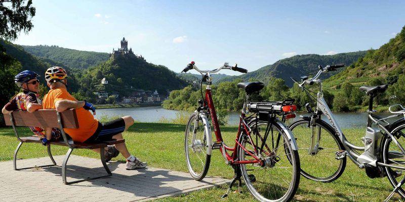 An den Ufern der Mosel macht Radfahren besonders viel Spaß.