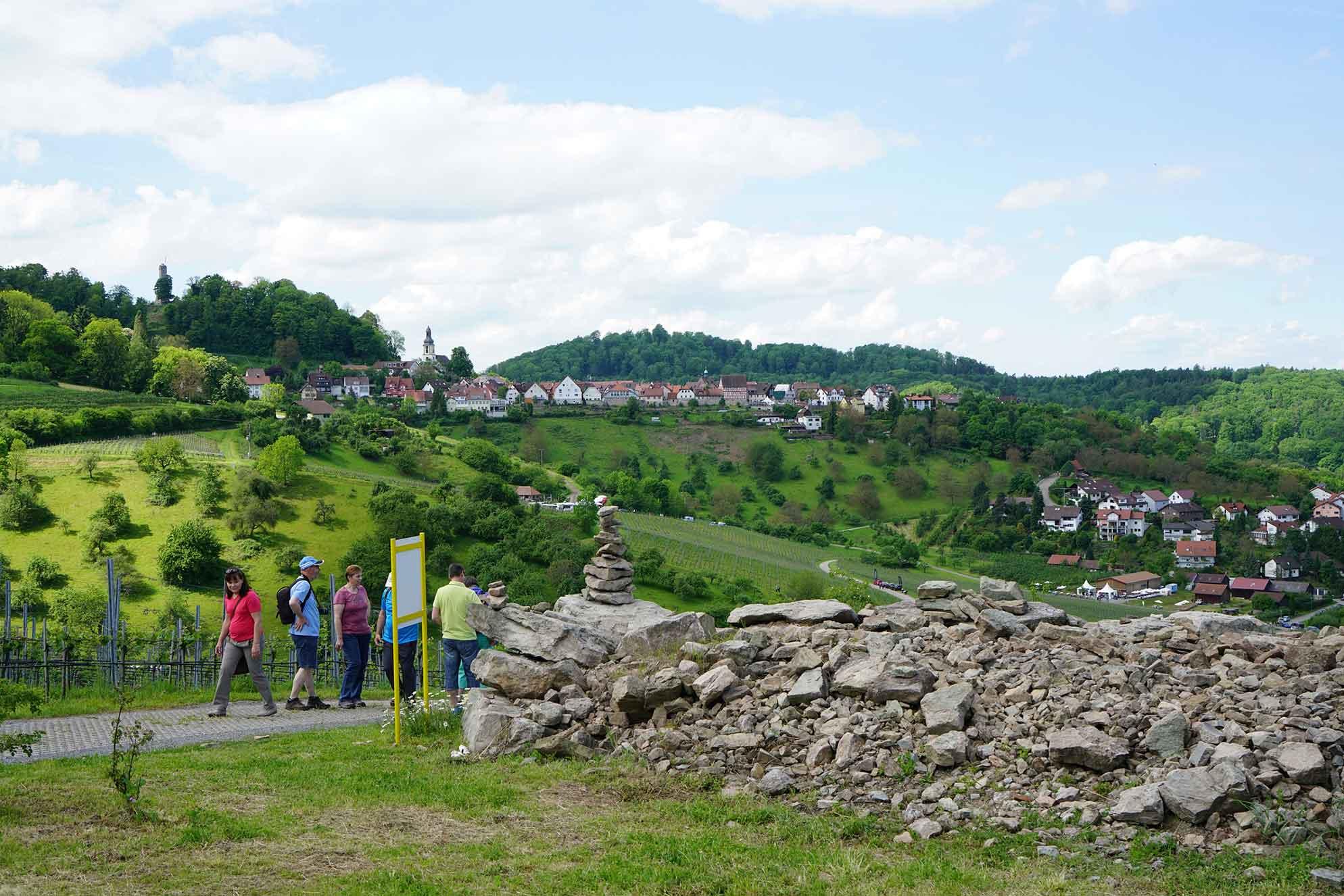 Wanderer in Weinsberger Tal